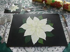 HAND PAINTED PLACEMATS & COASTERS Wynnum West Brisbane South East Preview
