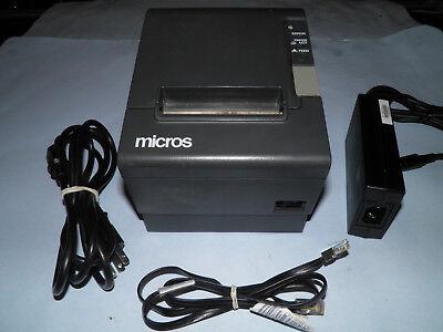 Micros Epson Tm-t88iv M129h Thermal Pos Receipt Printer Idn W Power Supply