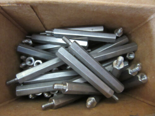 """(100) RAF 4554-632-SS Standoffs Stainless Male/Female 6/32 X 1-3/4"""" Long NEW!!!"""