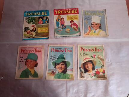 VINTAGE PRINCESS TINA AND TREASURE  MAGAZINES LOT OF 6 Thornlie Gosnells Area Preview