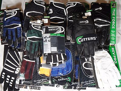 New Adult Youth Receiver Skill Tacky Grip Padded Lineman Football Gloves Cutters