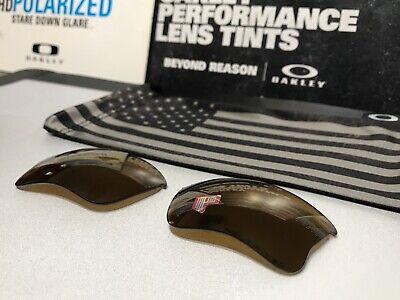 Oakley Flak Jacket 1.0 XLJ Gold Iridium Polarized lenses SKU# 13-663 USA / (Oakley Flak Jacket Xlj Polarized Sunglasses)
