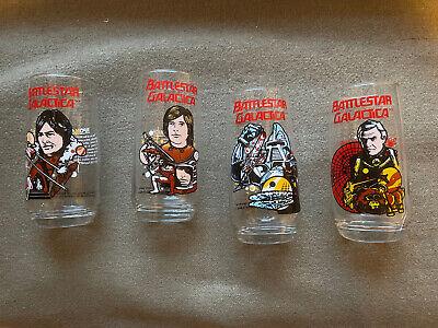 Battlestar Galactica Drinking Glasses 1979 x4