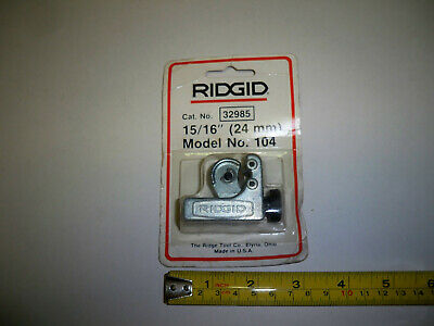 Ridgid Tools No 104 Mini Tubing Cutter 18 To 1516 Made In Usa New Old Stock