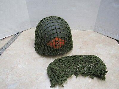 Wwii Replica (US WW2 REPLICA M1 STEEL POT HELMET NET OD GREEN )