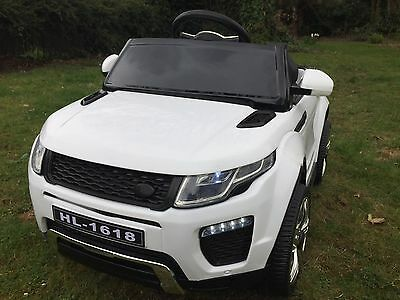 New Kids Range Rover Evoque Style 12v Battery Ride On Car Electric Jeep - White