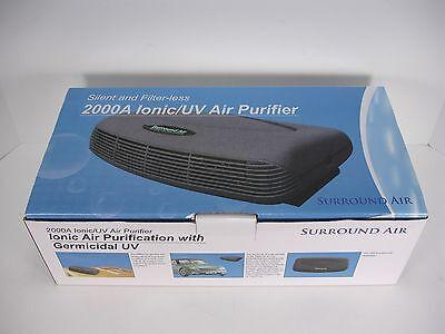 NEW SURROUND AIR 2000A IONIC UV GERMICIDAL COMPACT AIR PURIFIER HOME CAR