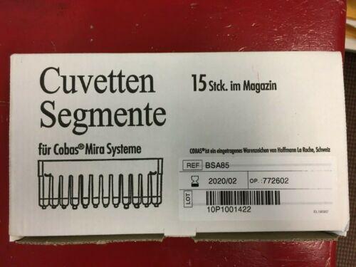 ONE 15 SEGMENT MAGAZINE OF 12 HOFFMAN LAROCHE COBAS MIRA BSA85 CUVETTES