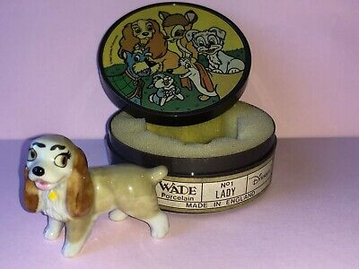 WADE Whimsie Lady and Tramp Disney Hat Box LADY Including Plastic Box for sale  Shipping to Ireland
