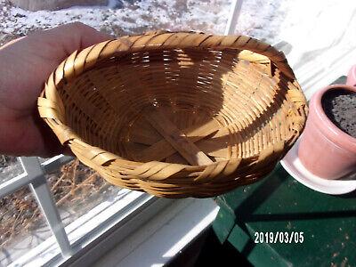 Vintage Miniature Woven Wicker Basket 6