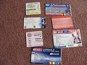 Football Tickets inc Finals England Scotland