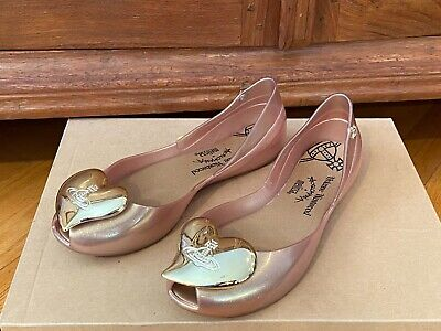 $159 RARE AUTH VIVIENNE WESTWOOD MELISSA ANGLOMANIA BLUSH