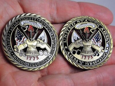 Us Army   Core Values Collectible Army Challenge Coin Army Strong 1775