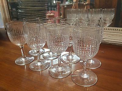 serie de 8 verres a vin blanc cristal baccarat modele nancy