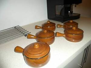 5 small pots/bowls with lids Lilyfield Leichhardt Area Preview