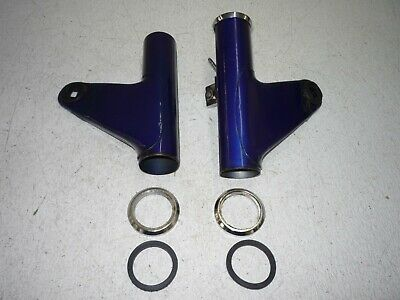 YAMAHA 73 74 75 TX500 XS500 HEADLIGHT MOUNTING EARS FORK COVERS OEM BLUE