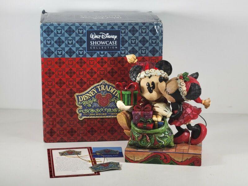 Disney Jim Shore A Christmas Kiss Mickey Minnie Showcase Collection 4009120