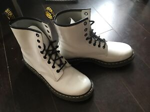 White Patent Leather Doc Martens boots