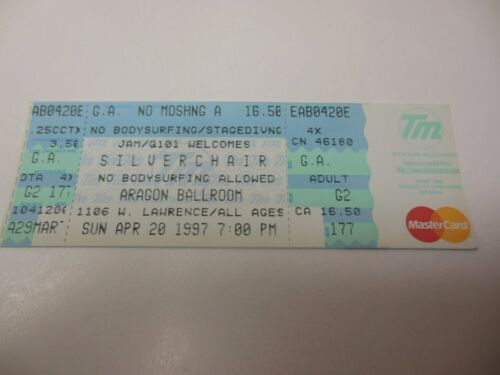1997 CONCERT TICKET SILVERCHAIR ARAGON BALLROOM CHICAGO IL BRAWLROOM RARE