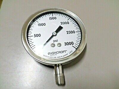 Ashcroft 0-3000 Psi Duralife Industrial Pressure Gauge 4