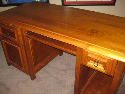 Solid wood desk Point Cook Wyndham Area Preview