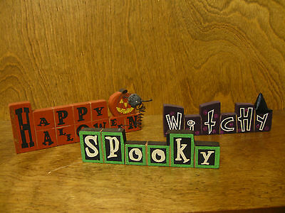 Spooky Halloween Store (HALLOWEEN SIGNS #44858B WITCHY; SPOOKY; HAPPY HALLOWEEN, NEW from Retail)