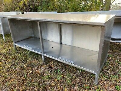 Heavy Duty 84 X 30 Commercial Stainless Steel Prep Work Cabinet Table Storage