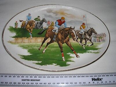 Weatherby Royal Falcon Durability Oval Plate with Horse Race