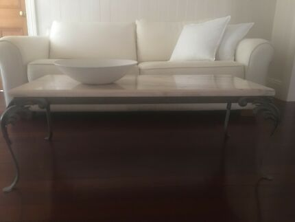Antique marble coffee table rectangle