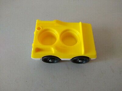 Vintage Fisher Price Little People #2552 McDonald's Car Yellow
