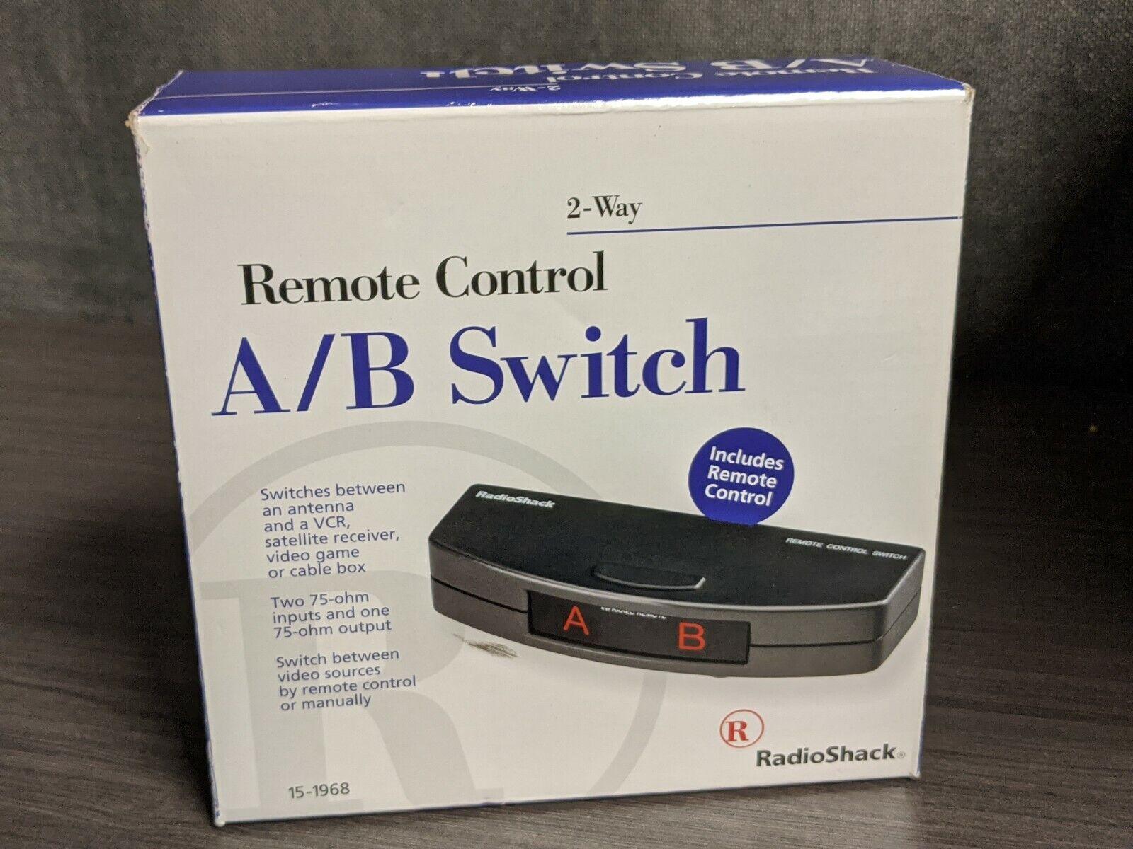 New - Radio Shack Remote Control A/B Switch 2 Way Video Source Switcher 15-1968 - $76.00