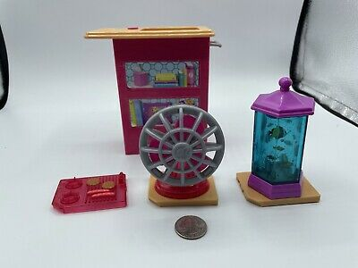 2015 Barbie Dream House Replacement Vanity Aquarium Fish Tank Fan STOVE