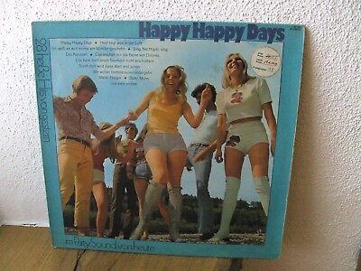 LP - Happy happy days - 28 heiße Hits von gestern im PartySound von heute