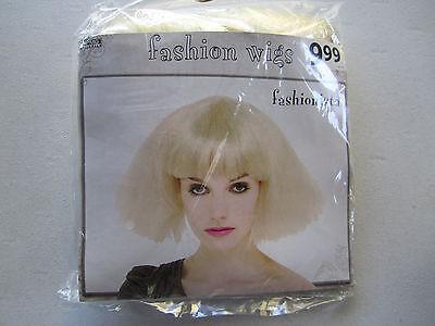 Fashion Wigs Fashionista Wig Halloween Short Blonde