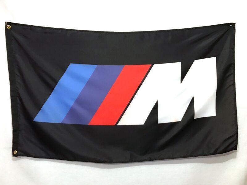BMW M Black Flag Sign Banner - M1 M2 M3 M4 M5 M6 M Roadster Coupe X5 X6 X4 E30