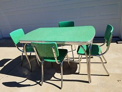 Vintage 1950's Chrome Formica Table Set