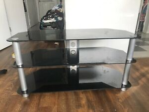 3 layer Glass Tv table