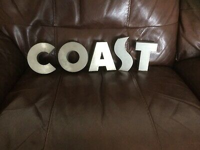 Vintage Brushed Aluminium Reclaimed Shop Letter Chunky 'C' Height 10.5cm