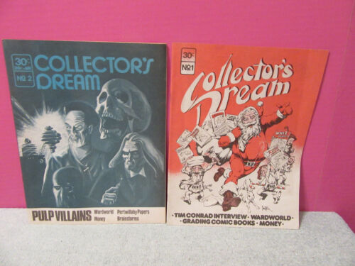 Collectors Dream Volume 1 & 2 comic guide sci fi Tim Conrad wardworld pulp