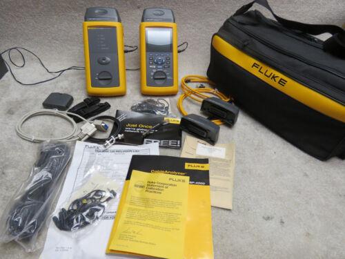 Fluke DSP-4000 Cable Analyzer with DSP-4000SR Full Kit w/ Nylon Carry Bag