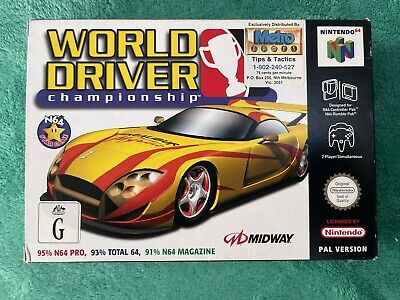 Nintendo 64 N64 World Driver Championship Pal VGC Complete CIB