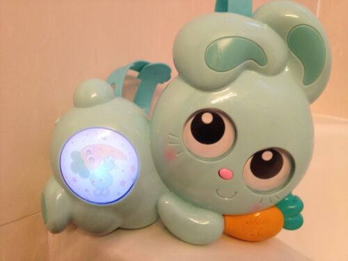 💜 Ouaps Jojo Baby Bunny Rabbit Night LIGHT Projector Crib toy Music Silverlit