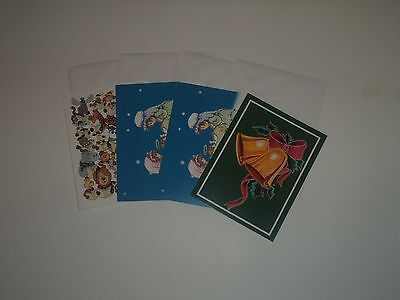 4 Habitat For Humanity Christmas Cards Nativity  Bells  Animal Designs