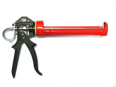 Pistola Selladora 310ml Profesional, Metal, Prensa de Silicona, Cartuchos