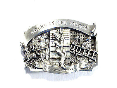 Arroyo Grande Belt Buckle American Fire Fighter 1986 Commemorative Ltd Ed #5826