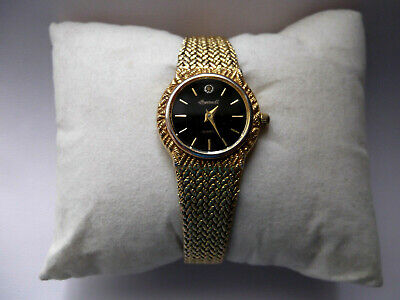 Ingersoll ladies vintage gold plated quartz watch with milanese mesh band