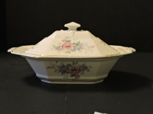 """VINTAGE EDWIN M. KNOWLES """"VITREOUS"""" CHINA 1 - COVERED OVAL VEGETABLE BOWL"""