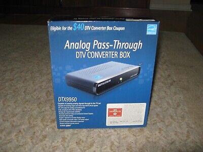 Digital Stream DTV Analog to Digital Converter Box DTX9950 w/ Remote