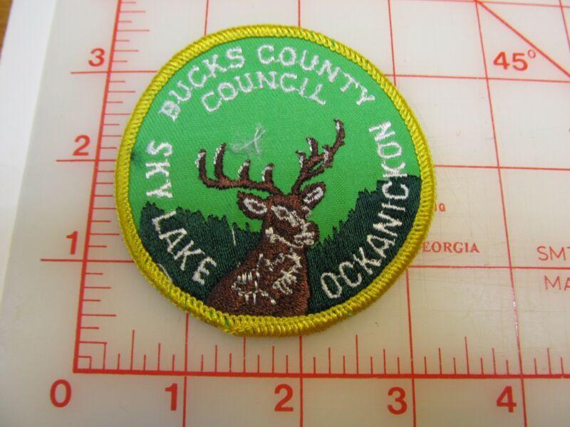 Bucks County Council Sky Lake Ockanickon collectible camp patch (r36)