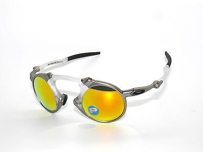 CLEARANCE OAKLEY *MADMAN 6019-07 PLASMA FIRE IRIDIUM POLARIZED Sunglasses